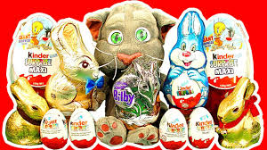 talking easter eggs kinder eggs maxi egg easter bunny chocolate talking tom cat