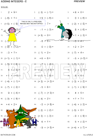 multiplication division addition subtraction worksheets by math