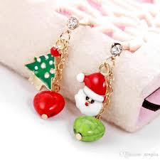 christmas earrings 2017 new arrival christmas earrings santa snowman christmas