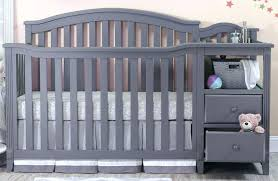 cribs with changing table and storage grey mini crib baby bedding nursery org 3 with changing table