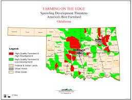 Map Oklahoma American Farmland Trust Resources Farming On The Edge Report