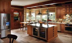 unusual kitchens designs beige tile pattern kitchen floor espresso