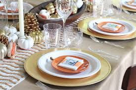 metallic thanksgiving tablescape chinet