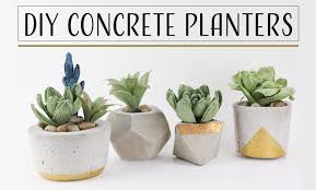 diy concrete planters maceteros de concreto youtube