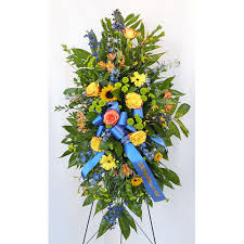funeral ribbon wylie flower and gift paradise blue same day delivery real local florist