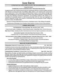 Program Director Resume Sample by Communication Coordinator Program Manager Resume Template