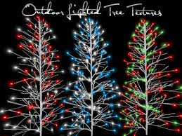 second marketplace perm 3 outdoor lighted tree