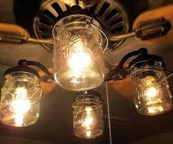 hunter mason jar ceiling fan ceiling fan light fixture s ceiling fan light fixtures amazon