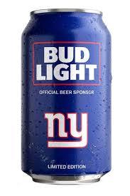 Bud Light Aluminum Bottle Bud Light Ny Giants Nfl Team Can Drizly