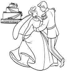 cinderella wedding coloring1 497k cinderella coloring pages