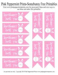 free printable easter egg hunt party favor somebunny loves you
