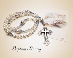 baptism rosary baptism rosary etsy