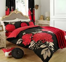 Black And White King Bedding Red White And Black King Bedding With Matching Curtain Set