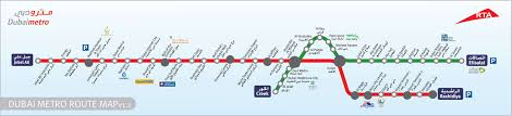 Dubai India Map by Uae Dubai Metro City Streets Hotels Airport Travel Map Info