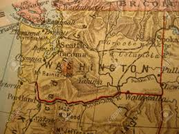 Road Map Of Washington State by Vintage Road Map Wallpaper Of Washington Evergreen State Stock