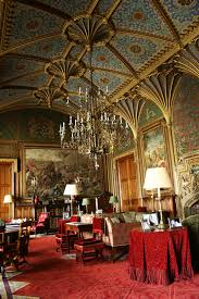 paper the gothic drawing room of eastnor castle herefordshire
