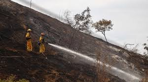 Wildfire La Area by With Cooler Weather Firefighters Gain U0027upper Hand U0027 On 7 000 Acre