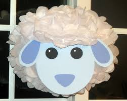 sheep tissue paper pompom kit old macdonald farm party 9 99 via