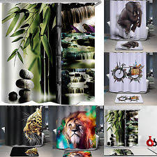Shower Curtains Sets For Bathrooms by Bathroom Shower Curtain Set Ebay