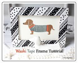 diy washi tape frame tutorial the 36th avenue