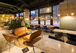 restaurant decor industrial style restaurant withgreenery themed decor also