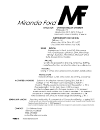 Architectural Drafter Resume Resume U2014 Miranda Ford