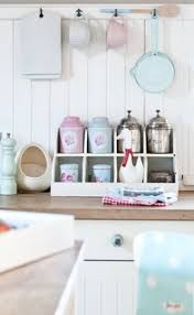 Cottage Style Kitchen Accessories - perfect pastel room colours in a glorious danish home blue