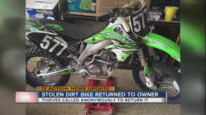 motocross action news update stolen dirt bike returned to owner youtube