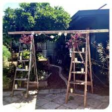 wedding arches gumtree gumtree ladders for hire ceremony aisle adornment