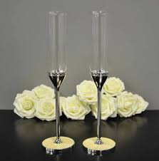 personalised vera wang with love pearl toasting flutes 1st year