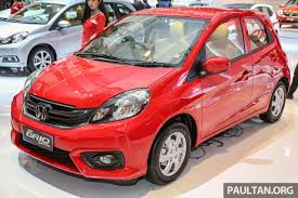 honda indonesia honda brio facelift unveiled at 2016 indonesia international motor