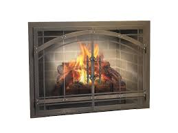 fireplace fireplace glass door custom fireplace doors