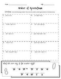 5th grade order of operations worksheets order of operations worksheets without exponents claudiubita