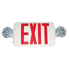 exit emergency light combo standard round head led combo exit emergency light morris