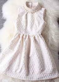 luxury faux pearl decoration collar tank dress white on luulla