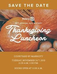 2015 thanksgiving luncheon rotaract of columbia