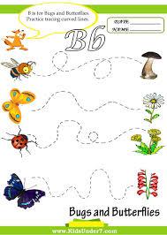 kids under 7 letter b worksheets