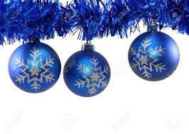 Christmas Decorations On White Background by Snowflake Blue Christmas Decorations And Blue Tinsel On White