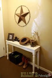 Entrance Way Tables Cowboy Hat Key Catcher For The House Entry Way And Pourch