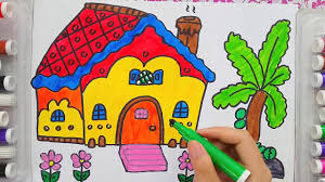 educational drawing and coloring art video for kids painting