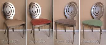 Covers For Dining Chair Seats by Reupholstering Dining Chair Cushions Custom Style