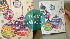 watercolor for how to paint ornaments speed