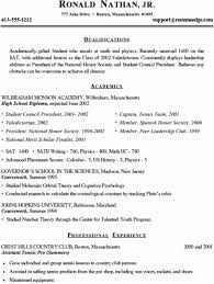 high resumes for college student resume throughout sample