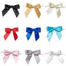 pre bows satin bows 7 8 inch 12 count
