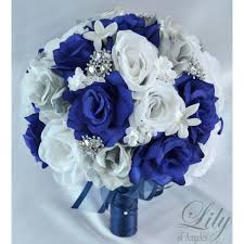 silver and royal blue wedding navy blue silver white featured