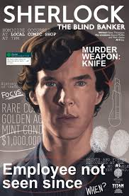 Magazines For The Blind Comic Book Preview Sherlock The Blind Banker 1 Bounding Into