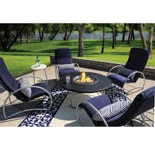 Patio Fire Pit Table Homecrest Cirque Modern Outdoor Fire Pit Table With Faux Granite