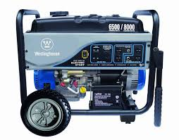 westinghouse wh6500e portable electric start gas generator 6500