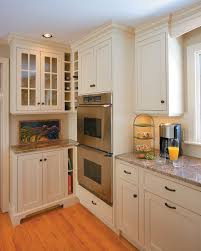 corner wine rack with shaker cabinets kitchen traditional and