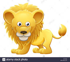 a cute lion animal cartoon character mascot stock photo royalty